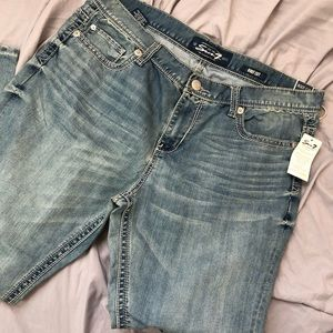 Seven7 Boot Cut Acid Wash Jeans 40 x 32 NWT